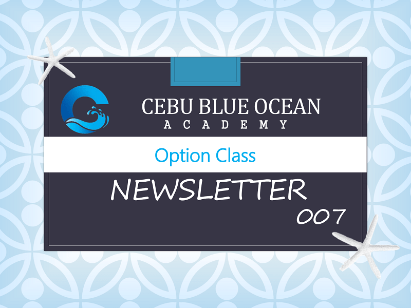 Cebu Blue Ocean - News Letter 007